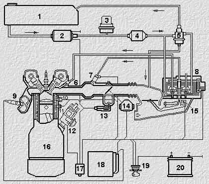 РЕШЕНО Схема топливной системы