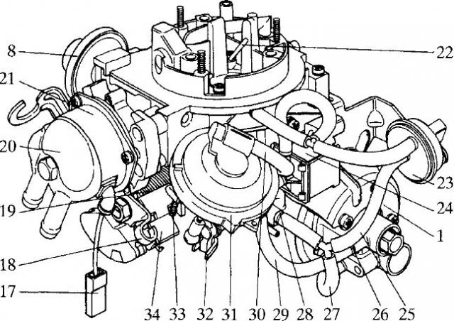 Схема подключения карбюратора 63