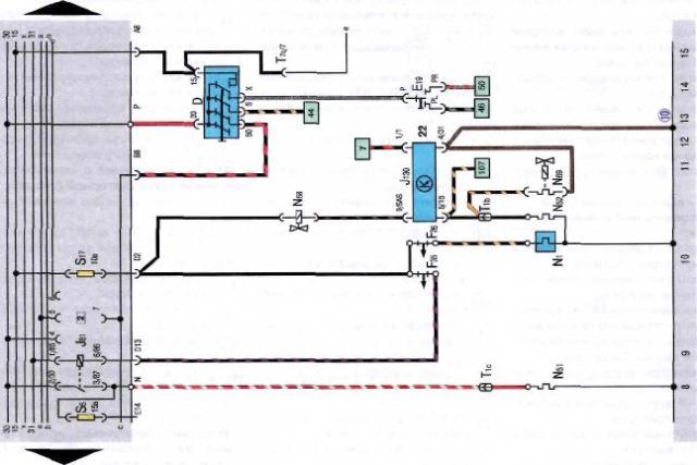 фольксваген джетта 1988 года электросхема