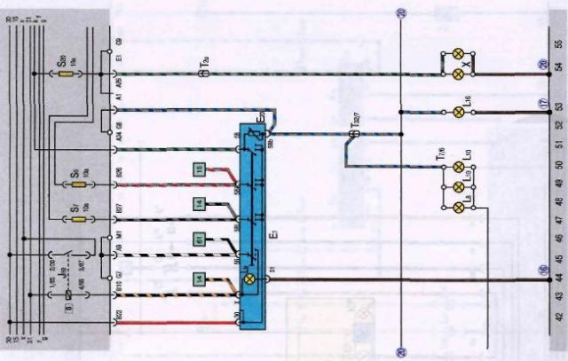 фольксваген джетта 1984 электрическая схема
