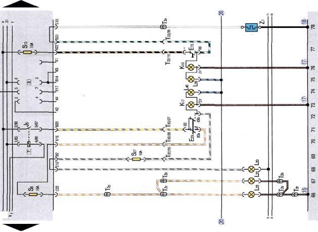 Элетрическая схема jetta2