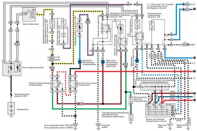 Электросхема тойота королла